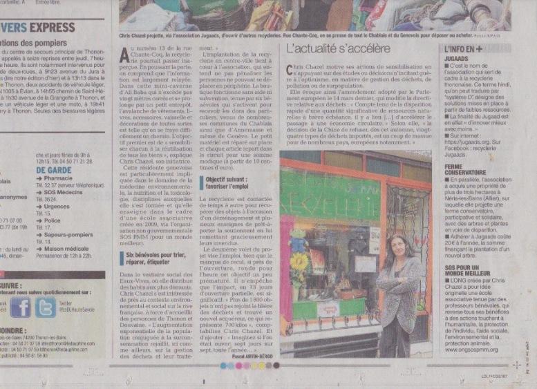 article Dauphiné libéré oct.2017 p2